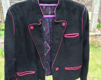 Vintage leather cropped jacket