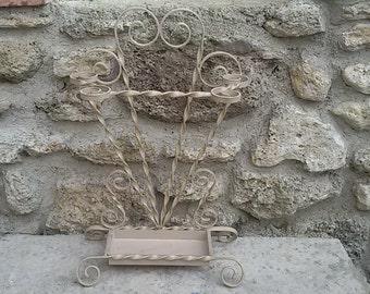 French Vintage / door - wrought iron umbrella / Vintage wrought iron Umbrella Holder