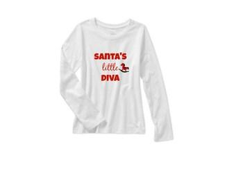 Santa's Little Diva Tee