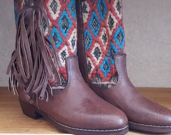 colorful original kilim boots 39 EU/6 UK
