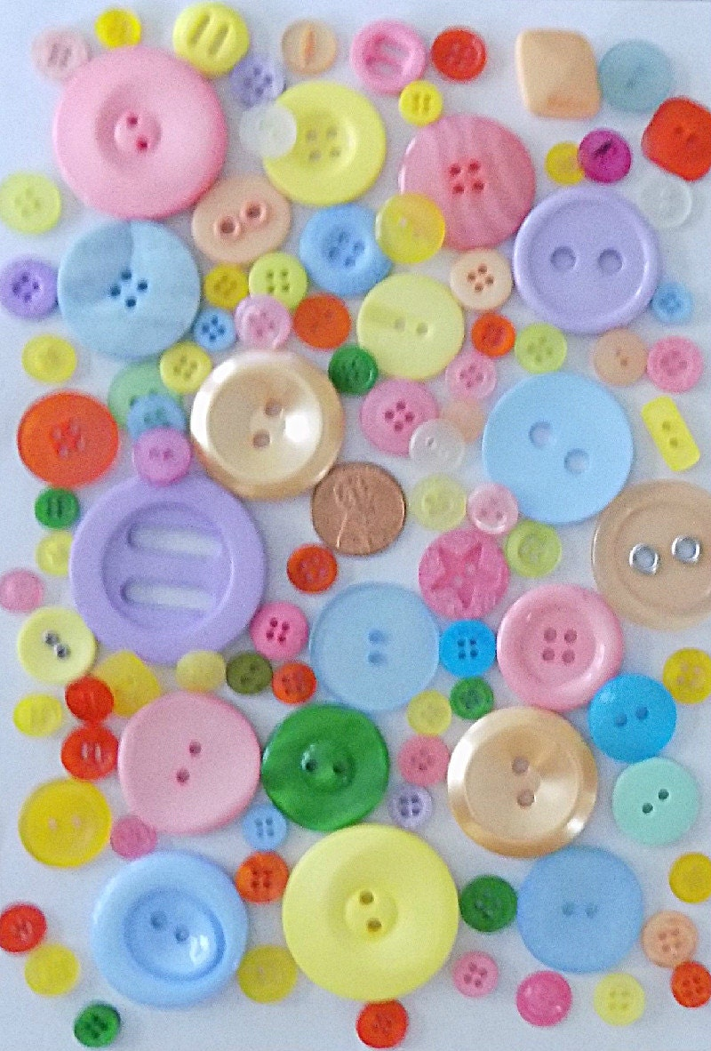 Bulk buttons for crafts -  3 89