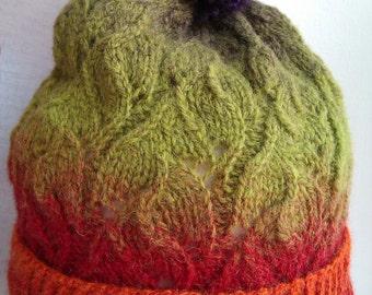 Multicolored Hat Woman hat Knitt Hat Womens Hat