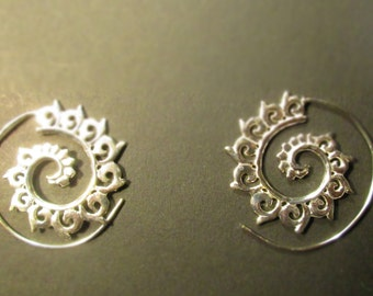 Earrings spiral spiral earrings
