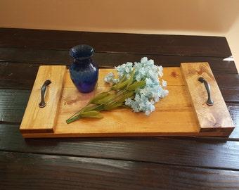Wooden Serving Tray, Rustic Decor, Farmhouse Tray, Rustic Home Decor, Farmhouse Decor, Serving Tray, Bed Tray, Sofa Tray