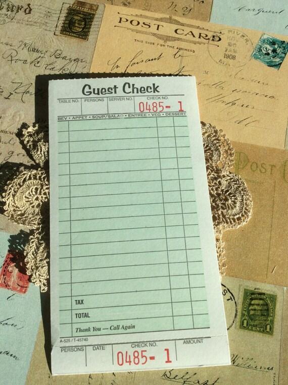 Cheque de la huésped tarjetas de registro. de TheEverydayJournal en ...
