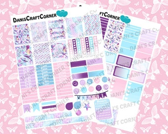 Mermaid Tails Printable Planner Sticker Kit