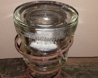 Recycled Insulator Candle Holder