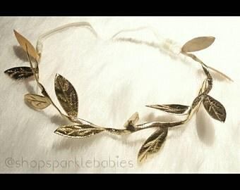 15 in Gold Leaf Cloth Headband