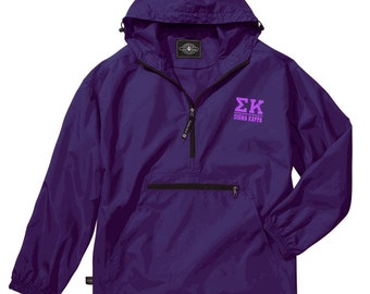 Sigma Kappa Pack-N-Go Pullover (lilac embroidery)