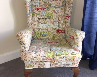 London Fabric Wingback Chair