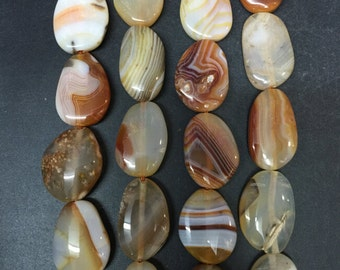 Approx 12pcs Natural agate slice nugget Beads,Polished raw Agate Chalcedony Slice slab,Striped agate pendant necklaces 18-25x28-35mm