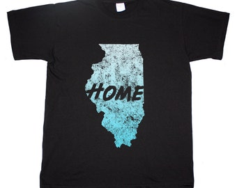 Illinois State Home Tee Chicago Windy City T shirt