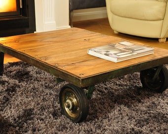 Industrial Trolley Coffee Table