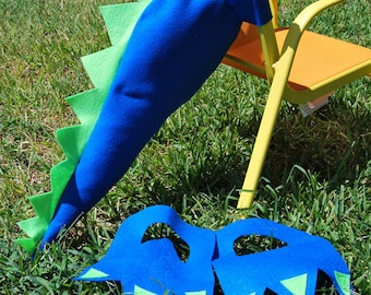 Dinosaur Tail, Dinosaur Birthday, Dinosaur Costume, Costume, Kid, Felt, Party Favor, Halloween, Dinosaur Party, Custom Parties