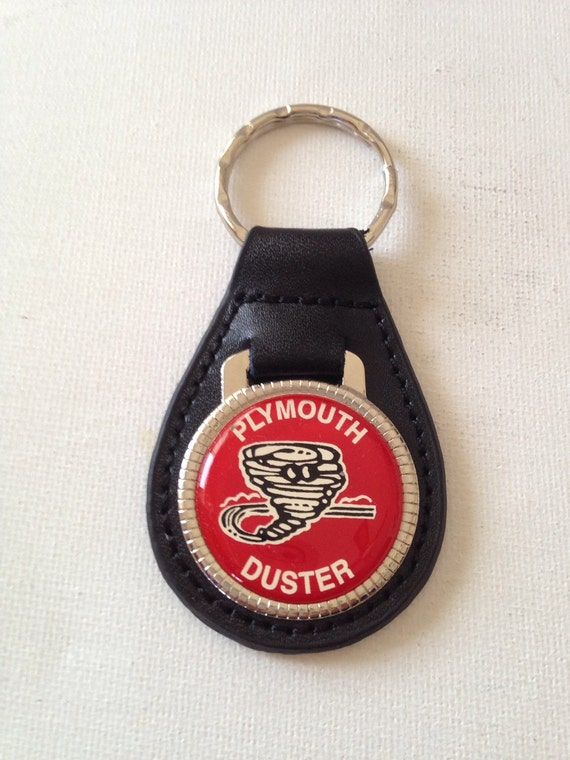 plymouth duster keychain genuine leather key chain. Black Bedroom Furniture Sets. Home Design Ideas