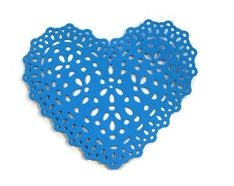 Extra Large Doily Heart Die Cut Set of 6