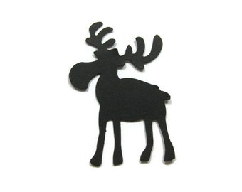 Large Moose Cut Out Set of 25