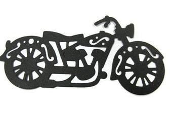 Paper Motorcycle Die Cut set of 12