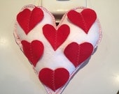 Valentines Day gift  Heart Shape Pillow Home Decor Gift Ideas Handmade Item Felt Pillow Gift For Her Gift For Him