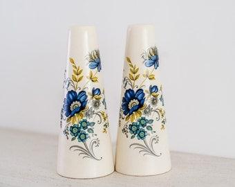 Retro Mid Century Condiment Set - Floral Kitsch Purbeck