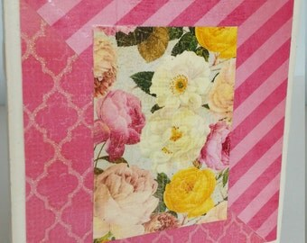 Pink & Roses Decorative Tile/Coaster (Pata's Hope Collection)