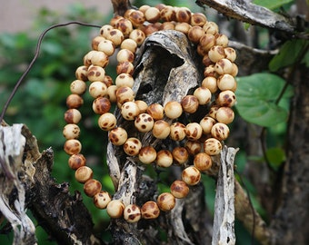 8mm  Natural Aromatic Sandalwood Thuja Sutchuenensis Grade AAA 108 Mala Beads Wooden Mala Beads,Meditation Prayer Japa Mala Beads