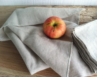 MOTHER'S DAY GIFTS, Natural Linen Napkins for Everyday Use, Choose Your Quantity