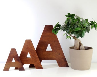 Wooden letters // Decorative letters  for Wall Decor 6 - 16 inch // Home decor // Wall decor // Wall letters // Big letters