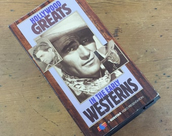 Hollywood Greats in the Early Western Classics ~ VHS Cassette Tape Set