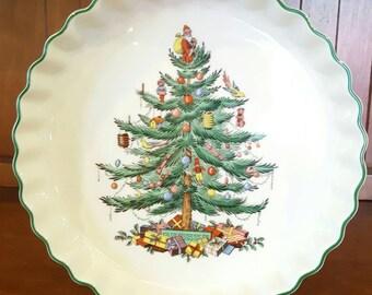 Spode Christmas Tree Quiche Dish