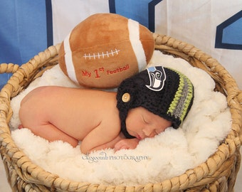 Infant Seahawks Inspired Football Helmet Set