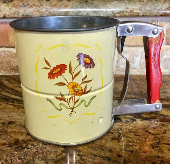 Vintage 1950s Androck Hand I Sifter Flour Sifter 3 Screen