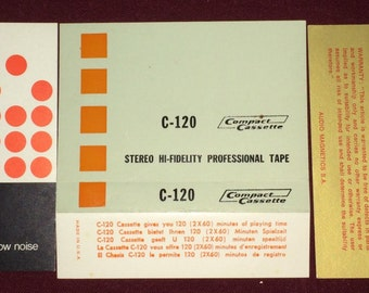 Audio Cassette Tape Labels (Compact Cassette and Philips)