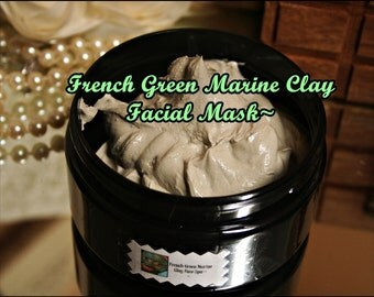 French Green Clay Face Mask~Marine Clay~French Green Clay~Face Mask~Detoxifying Mask~Green Clay Mask~Green Clay~ Face Spa~