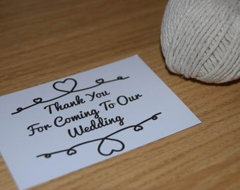 Wedding Thank You. Tie The Knot Theme. A6 or A7