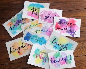 Words in Watercolor