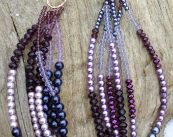 Amethyst Splendor Necklace, purple, lavender, multi-strand