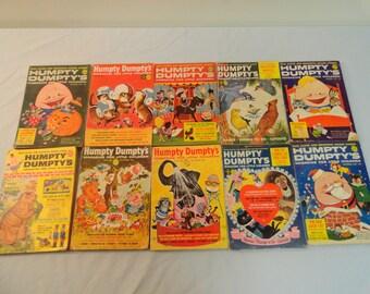 10 Vintage Humpty Dumpty's Magazine For Children
