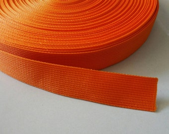 5 Yards, 1 inch (2.5 cm.), Polypropylene Webbing, Bright Red, Key Fobs, Bag Straps, Purses Straps, Belts, Tote Bag Handle.