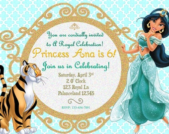 Disney's Jasmine Birthday Invitation