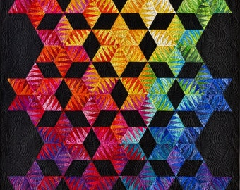 """Becolourful Designs """"Light Into Darkness"""" Quilt Pattern - Paper Piecing Design by Jacqueline de Jonge (includes foundation papers)"""