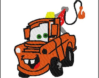 Cars Mater Embroidery Design