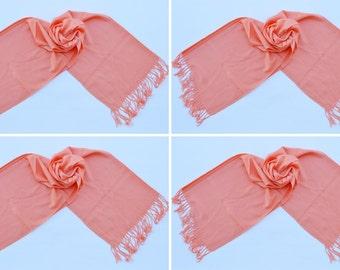 4 PEACH PASHMINA,pashmina scarf,pashmina shawl,bridesmaid shawls,Pashmina Wedding,scarf, shawl, scarves 015