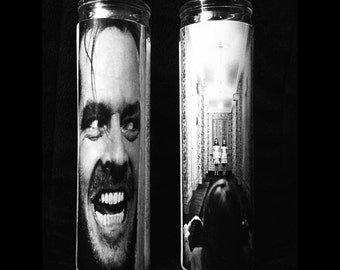 """The Shining Set of 2 2x8"""" Horror Candles from Toxxic Candles"""