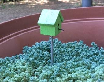 Green Miniature Birdhouse