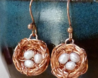 Unique Bird's Nest Earrings