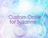 Custom mouse ear order for Suzanne. Aurora, flower crown, and classic Minnie