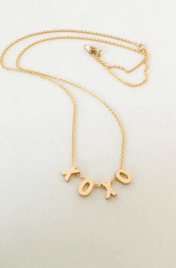 xoxo gold necklace xoxo gold charm necklace by