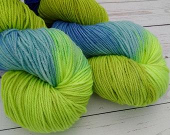 Merino Cottage DK , Hand Dyed, DK Yarn  4 ply,  SW Merino, 270 yards