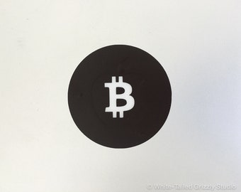 BITCOIN MACBOOK DECAL - Macbook Apple decal - Macbook Apple light cover - Mac Decal - Apple Laptop Decal - Cryptocurrency Decal